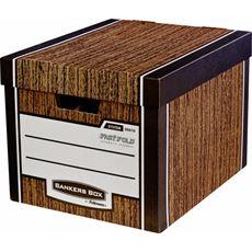 Bankers Box Woodgrain Pudło do przechowywania 340 mm x 405 mm x 295 mm (2 sztuki)