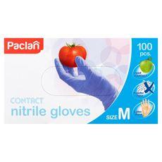 Paclan Rękawice nitrylowe M 100 sztuk