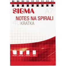 Sigma Kołonotatnik A7 40 kartek 5 sztuk