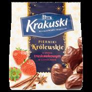 Krakuski Pierniki Królewskie o smaku truskawkowym 150 g