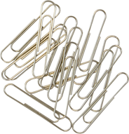 Spinacze metalowe okrągłe 50 mm 100 sztuk