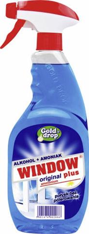 Windows Plus Płyn do mycia szyb z amoniakiem w rozpylaczu 750 ml 4 sztuki