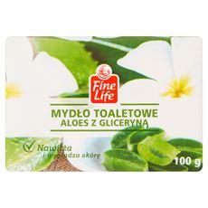 Fine Life mydło toaletowe kostka 100g aloes z gliceryną