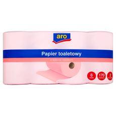 Aro Papier toaletowy w kolorze różowym 8 rolek