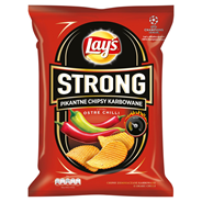 Lay's Strong Pikantne chipsy karbowane o smaku ostre chilli 80 g