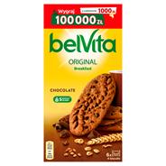 belVita Śniadanie Kakaowe Ciastka z pełnym ziarnem 300 g (6 x 4 sztuki)