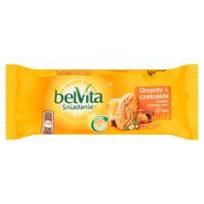 belVita Śniadanie Orzechy + czekolada Ciastka z pełnego ziarna 50 g 20 sztuk