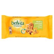 belVita Śniadanie Musli z owocami Ciastka z pełnego ziarna 50 g 20 sztuk