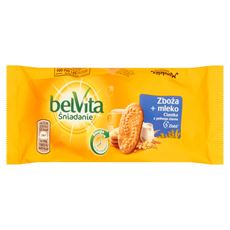 belVita Śniadanie Zboża + mleko Ciastka z pełnego ziarna 50 g 20 sztuk