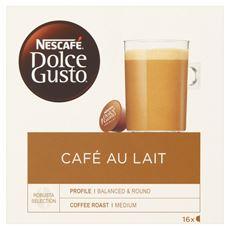 Nescafé Dolce Gusto Café au Lait Kawa w kapsułkach 160 g (16 sztuk)