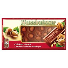 Alpen Gold Nussbeisser Czekolada mleczna z całymi orzechami laskowymi 100 g 5 sztuk
