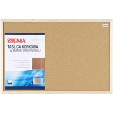 Sigma Tablica korkowa 60x40 cm