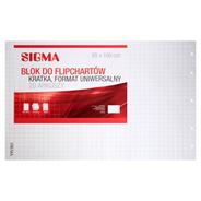 Sigma Blok do flipchartów kratka format uniwersalny 65 x 100 cm 20 arkuszy