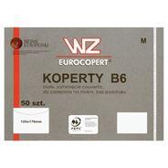 WZ Eurocopert Koperty B6 białe zamknięcie couvertic zaklejane na mokro bez poddruku 50 sztuk