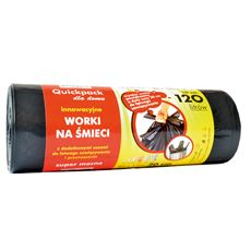 Quickpack Worki z uszami czarne 120 l 10 sztuk