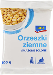 Aro Orzeszki ziemne smażone solone 100 g 15 sztuk