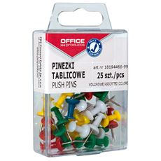 Office Products Pinezki beczułki mix kolorów 25 sztuk
