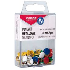 Office Products Pinezki mix 50 sztuk