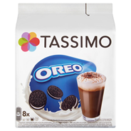 Tassimo Oreo Preparat do przygotowania napoju 8 kapsułek i koncentrat mleka 8 kapsułek 332 g