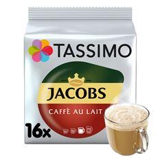 Tassimo Jacobs Café au Lait Napój w proszku z kawą rozpuszczalną i mlekiem 184 g (16 kapsułek)