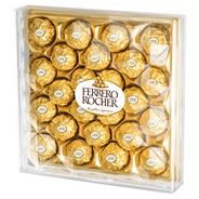 Ferrero Rocher Chrupiący smakołyk z kremowym nadzieniem i orzechem laskowym w czekoladzie 300 g