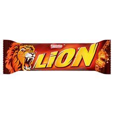 Lion Nadziewany wafel z karmelem i płatkami pszennymi w polewie kakaowej 42 g 40 sztuk