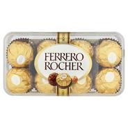 Ferrero Rocher Chrupiący smakołyk z kremowym nadzieniem i orzechem laskowym w czekoladzie 200 g, opakowanie 5 szt