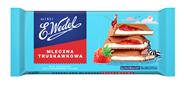 E. Wedel Czekolada mleczna truskawkowa 100 g 12 sztuk