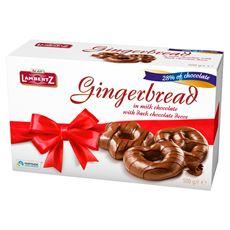 Lambertz Pierniki w czekoladzie dekorowane czekoladą mleczną 500 g