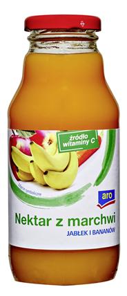 Aro Nektar z marchwi jabłek i bananów 330 ml 12 sztuk