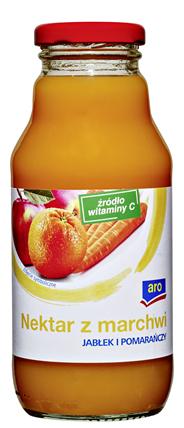 Aro Nektar z marchwi jabłek i pomarańczy 330 ml 12 sztuk
