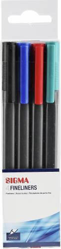 Sigma cienkopis różne kolory 4 sztuki