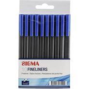 Sigma cienkopis niebieski 10 sztuk