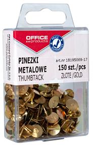 Office Products Pinezki złote 150 sztuk