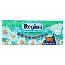 Regina Chusteczki higieniczne rumiankowe 4-warstwowe 10 paczek po 9 chusteczek