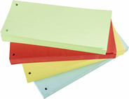 Sigma Przekładki kartonowe czerwone 1/3 A4 100 sztuk