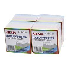 Sigma Kostka papierowa klejona kolorowa 8x8x7 cm