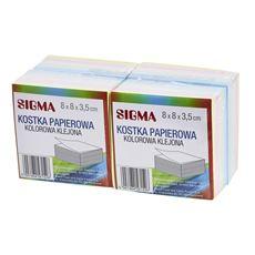 Sigma Kostka papierowa klejona kolorowa 8x8x3,5 cm