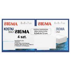 Sigma Kostka papierowa biała nieklejona 8 x 8 x 7 cm 4 sztuki