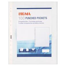 Sigma Koszulki krystaliczne na dokumenty 38 mic A4 100 sztuk