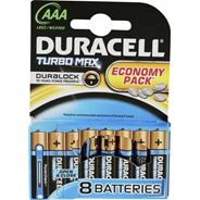 Baterie alkaliczne Duracell Turbo Max AAA 8szt
