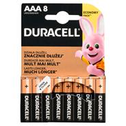 Baterie alkaliczne Duracell AAA 8szt