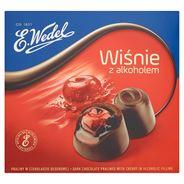 E. Wedel Wiśnie z alkoholem Praliny w czekoladzie deserowej 141 g