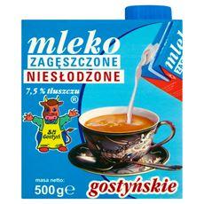 SM Gostyń Mleko gostyńskie zagęszczone niesłodzone 7,5% 500 g 6 sztuk