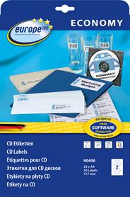 Avery Etykiety samoprzylepne na CD 25 sztuk