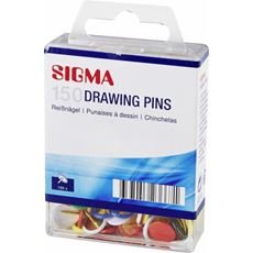 Sigma pinezki okrągłe kolorowe 150 sztuk