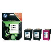 HP 300 tusz 2xczarny+kolor
