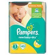 Pampers New Baby-Dry rozmiar 1 (Newborn), 43 pieluszki