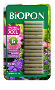 Biopon Pałeczki nawozowe uniwerslane XXL 15 sztuk