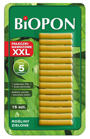 Biopon Pałeczki nawozowe do roślin zielonych XXL 15 sztuk
